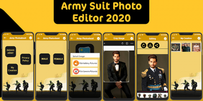 Army Suit Photo Editor - Commando Photo Suit - Android App